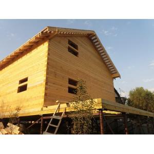 Дом из профилированного бруса 145х145мм в Краснодарском крае Апшеронский район Станица Нефтяная