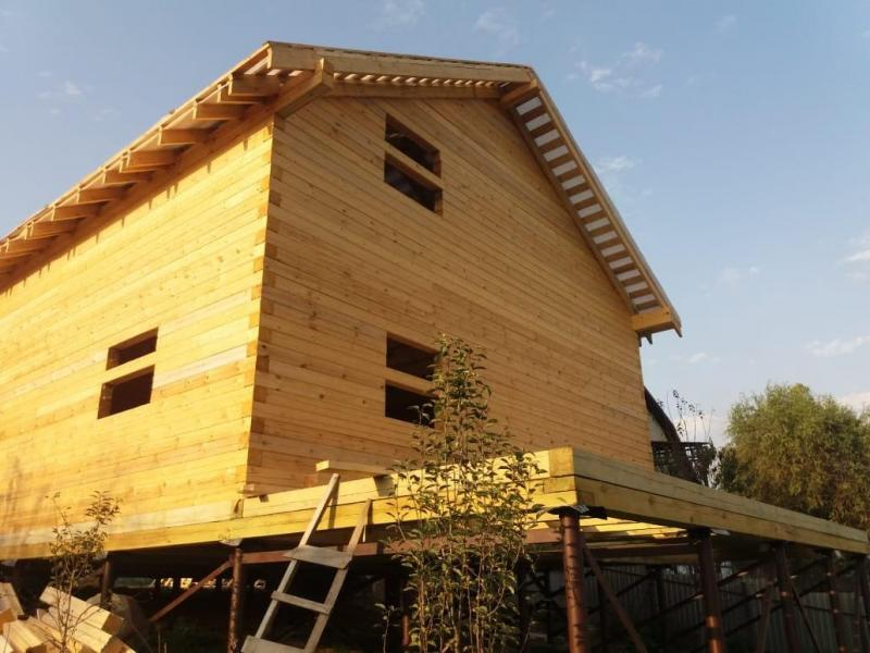 Дом из профилированного бруса 145х145мм в Краснодарском крае
