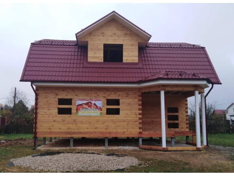Дом из профилированного бруса 145х190мм камерной сушки в Тульской области