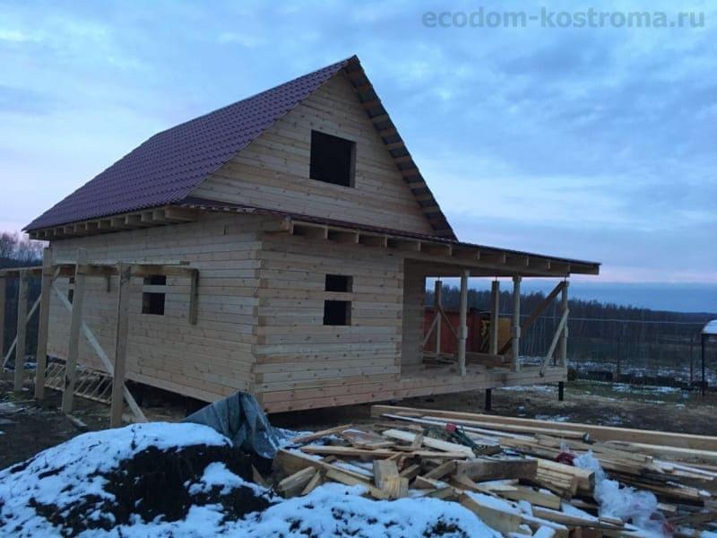 Дом из бруса в Тульской области, Заокский р-он