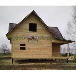 Дом из профилированного бруса в Липецкой области ноябрь 2019