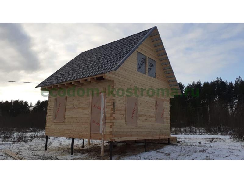Дом из профилированного бруса 6х6 в Костромской области в ноябре 2019