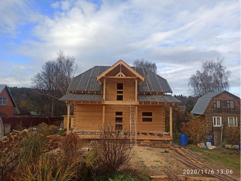 Дом из профилированного бруса 145х190 мм в Московской области Подольск