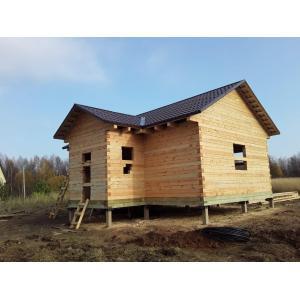 Баня из профилированного бруса в Тверской области Зубцовский район ноябрь 2020