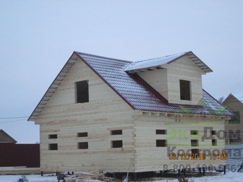Дом из профилированного бруса 145х145 в Тульской области