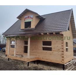 Дом из профилированного бруса 145х190 в Тульской области построен в декабре 2019 года