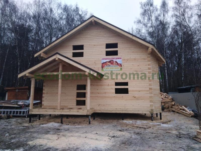 Дом 8х8 из профилированного бруса в Домодедово декабрь 2019