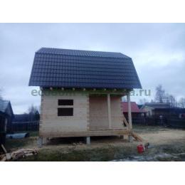 Дом из профилированного бруса 6х6 построен в Ярославской области в декабре 2019