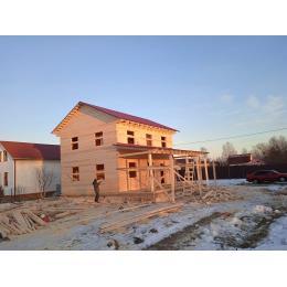 Дом из профилированного бруса в Дмитровском районе МО декабрь 2020
