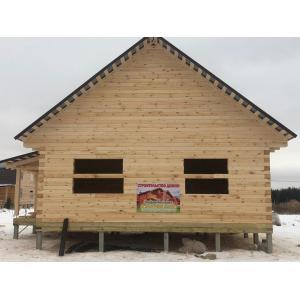 Дом из профилированного бруса в Ивановской области декабрь 2020