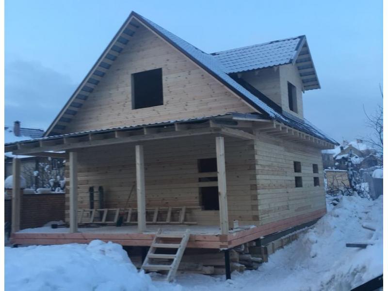 Дом из профилированного бруса с террасой в Московской области