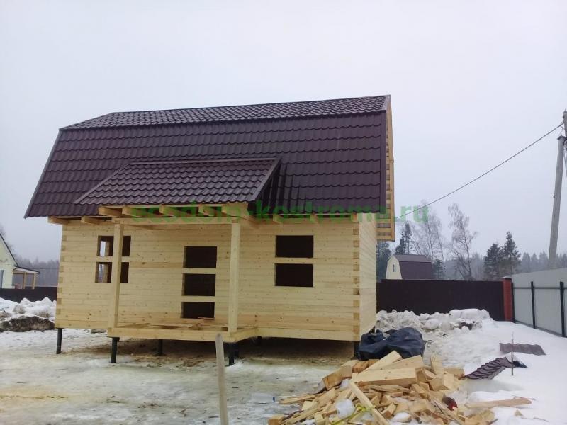 Дом из профилированного бруса в Можайском районе МО