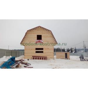 Дом из обрезного бруса под усадку Щелковский район МО февраль 2021