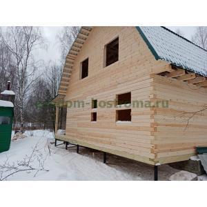 Дом из профилированного бруса 145х145мм во Владимирской области Киржачский район февраль 2021
