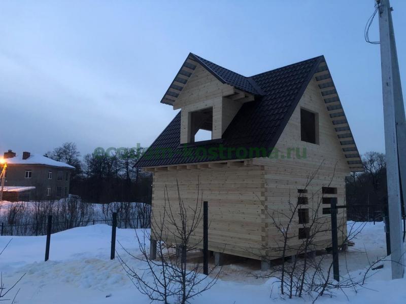 Дом из профилированного бруса в новой Москве февраль 2021
