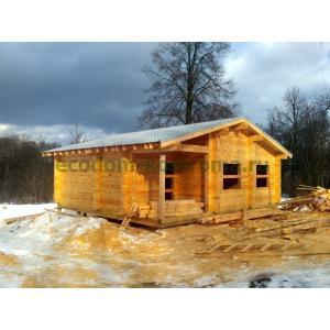 Дом из профилированного бруса в Конаковском районе Тверской области февраль 2021