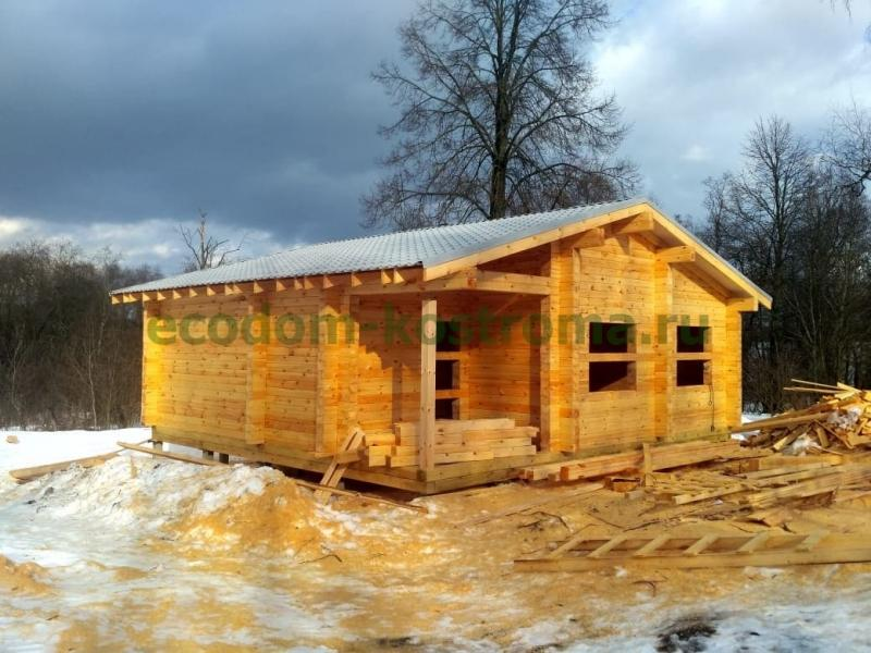 Дом из профилированного бруса в Конаковском районе Тверской области