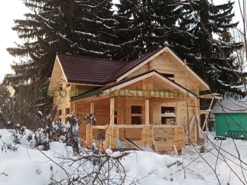 Дом из профилированного бруса в Сергиево-Посадском районе МО февраль 2021