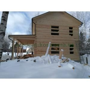 Дом из профилированного бруса Щелковский район в марте 2021