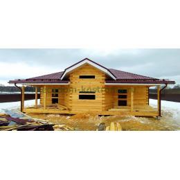 Дом из профилированного бруса 145х190мм (гребенка) Ивановская область март 2021