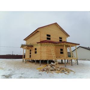 Дом из профилированного бруса в Клинском районе МО март 2021