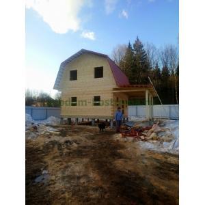 Дом из профилированного бруса в Солнечногорском районе март 2021