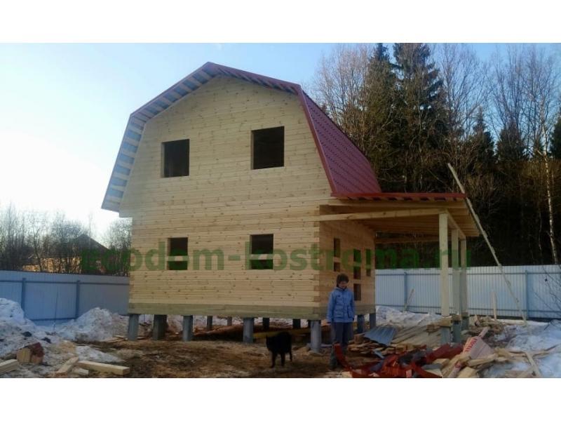 Дом из профилированного бруса в Солнечногорском районе МО март 2021 года