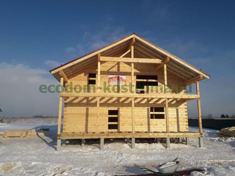Дом из профилированного бруса 145х190мм построен во Владимирской области