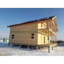 Дом из профилированного бруса Владимирская область Камешковский район март 2021