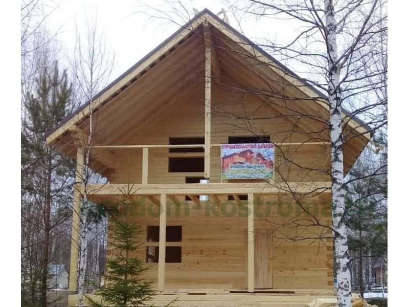 Дом из профилированного бруса 145х190 в Калужской области
