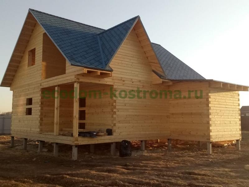 Дом из бруса в Чеховском районе МО апрель 2020 года