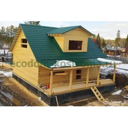Дом из профилированного бруса в Мурманской области апрель 2021