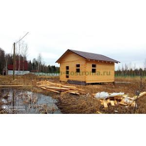 Баня из профилированного бруса в Ярославской области апрель 2021