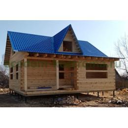 Дом и баня из бруса в Нижегородской области апрель 2021