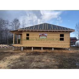 Дом из профилированного бруса в Костромской области апрель 2021