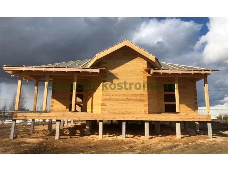 Дом из профилированного бруса в Костромской области