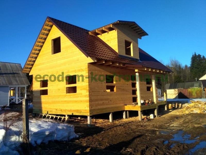 Дом из профилированного бруса Сергиево-Посадский район Московской области