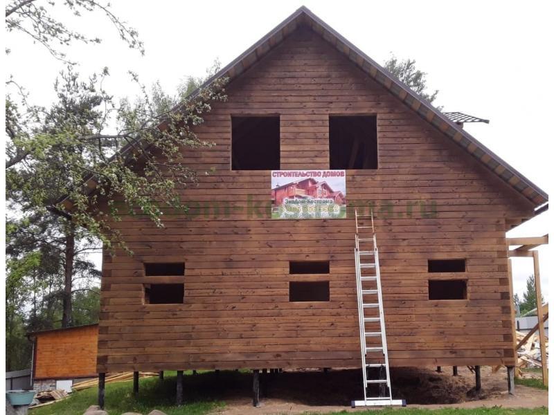 Дом в Тверской области в городе Бологое построен в мае 2019 года из костромского бруса