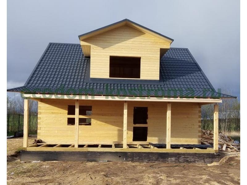 Дом из профилированного бруса 145х145мм Ленинградская область май 2020 года