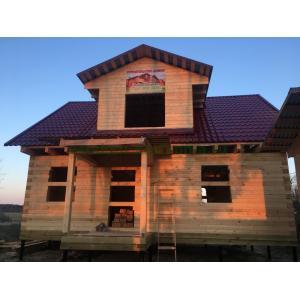 Дом из профилированного бруса 145х190мм в Тверской области Конаковский район май 2020 года