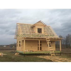 Дом из обрезного бруса 150х150мм в Орловской области май 2020