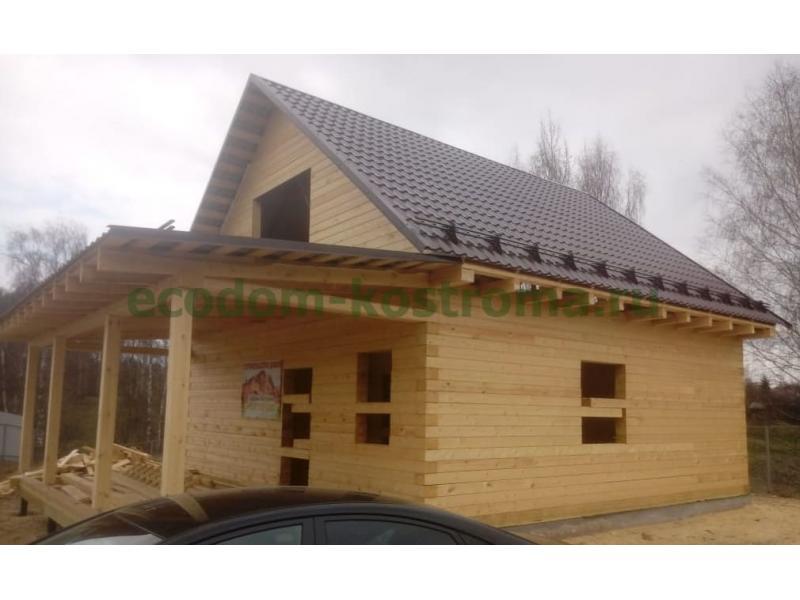 Дом из профилированного бруса 145х190мм в Костромской области май 2020 г.