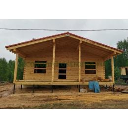 Дом из профилированного бруса в Костромской области май 2021