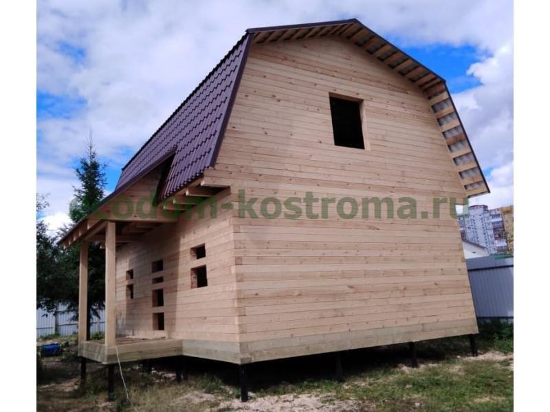 Дом из профилированного бруса в МО г. Дедовск июнь 2019