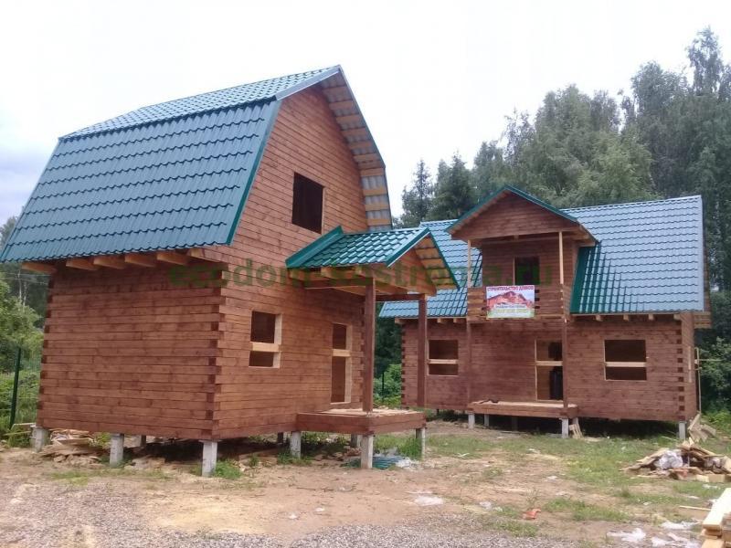 Дом и баня из профилированного бруса камерной сушки в Костроме июнь 2019