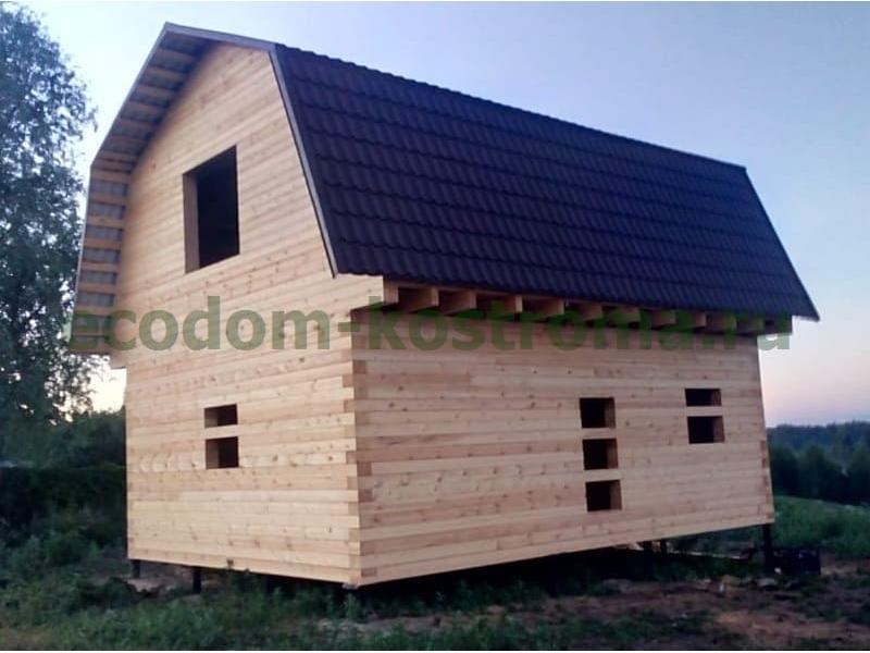 Дом из профилированного бруса 145х195мм. в Костромской области д. Ченцы июнь 2019г.