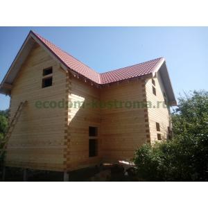 Дом из профилированного бруса 145х190мм в Ступинском районе Московской области июнь 2020