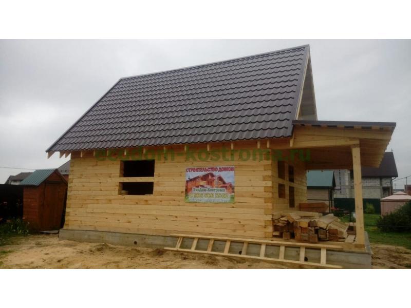 Дом из профилированного бруса камерной сушки построен в Московской области в Раменском районе в июле 2019г.