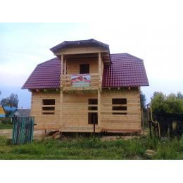 Дом из костромского бруса в Ивановской области Заволжский район июль 2019 года