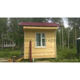 Дом из профилированного костромского бруса в Калужской области июль 2019